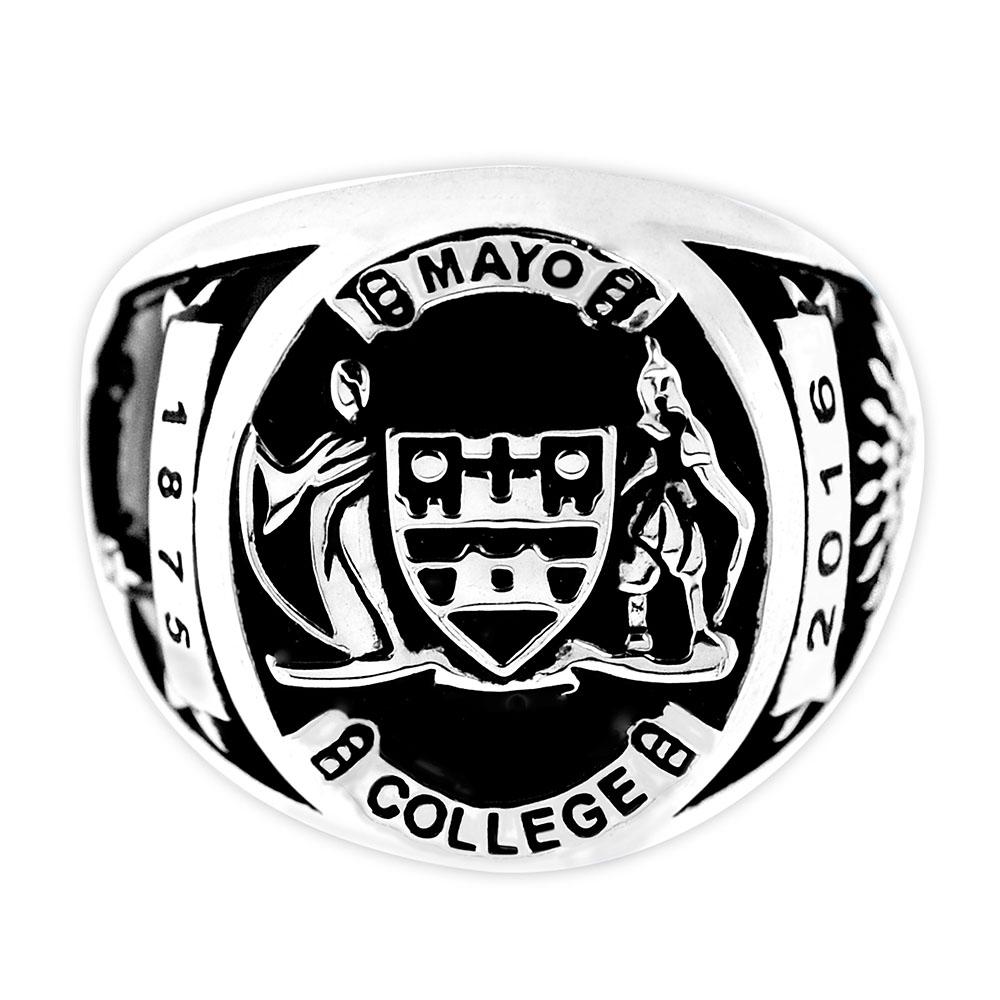 Mayo College Jewellery by KHWAISH - Mayo Ring Silver Polish Front