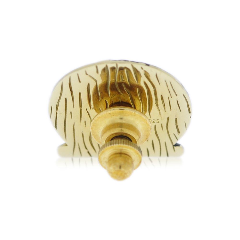 Mayo College Jewellery by KHWAISH - Mayo Lapel Pin Gold Polish Black Enamel Back