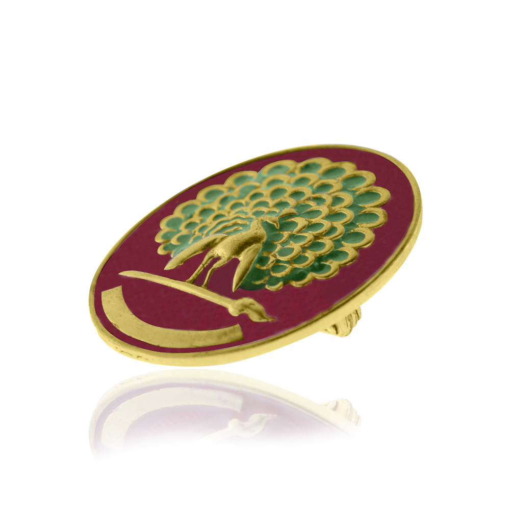Mayo College Jewellery by KHWAISH - Mayo Monitor Badge Gold Polish with Red Enamel Right