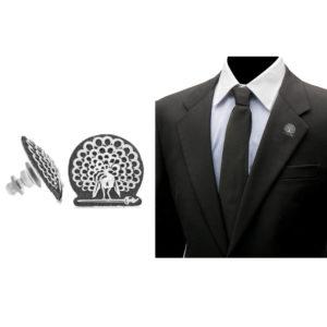 Mayo College Jewellery by KHWAISH – Mayo Lapel Pin Silver Polish Front Side Blazer
