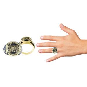 Mayo College Jewellery by KHWAISH - Mayo Ring Gold Polish Hand look