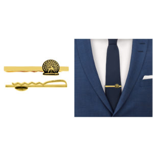 Mayo College Jewellery by KHWAISH - Mayo Tie Pin Gold Polish Black Enamel Front Tie View