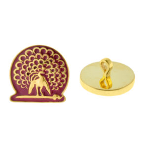 Mayo College Jewellery by KHWAISH – Mayo Buttons Gold Polish Front and Back