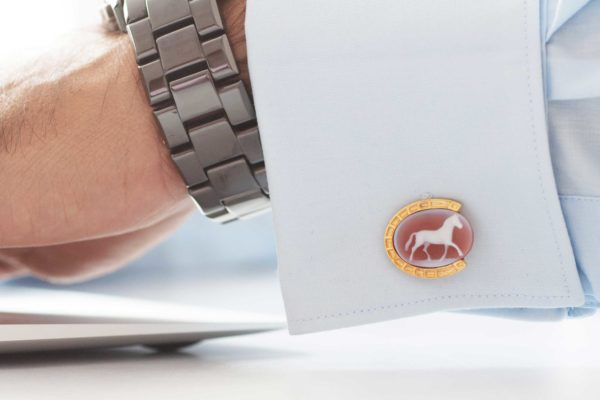 Full Horse Cufflinks by Khwaish Jewels Jaipur
