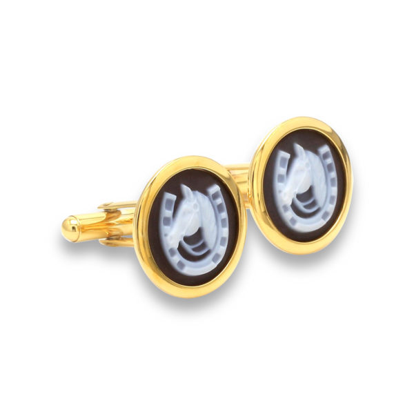 Horse Shoe Cufflinks by Khwaish Jewels Jaipur